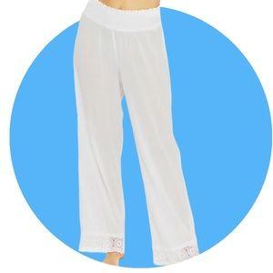 NWT La Blanca Island Fare Smocked Lounge Pants XL